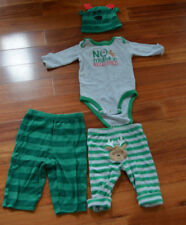 CARTER'S/GERBER CHRISTMAS BABY-(3-6 Mos.)mix-n-match outfits-reindeer-mistletoe