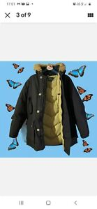 Mens Woolrich Arctic Fur Parka Jacket, Large