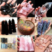 Xmas Pink white black purple Natural Quartz Crystal Carved Palm Healing Gemstone