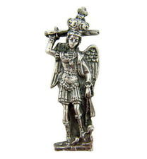 Saint St Michael the Archangel Statue Token Pocket Medal with Holy Prayer Card