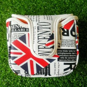 UK Flag Golf Square Mallet Putter Head Cover with Magnetic Closure