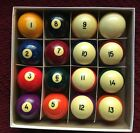 Brunswick Gold Crown Pocket Billiard Balls Vintage Cast Phenolic