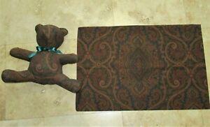 Vintage Ralph Lauren BRIANNA Paisley brown Stuffed Bear Pillow + pillowcase