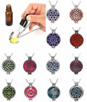 Aromatherapy Essential Oil Perfume Necklace Life Tree Diffuser Locket Pendant