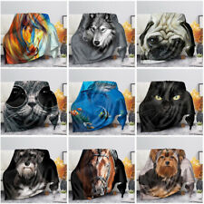 Fashion Animal Print Blankets Soft Warm Comfort Throw Blanket Sofa Couch Bedding