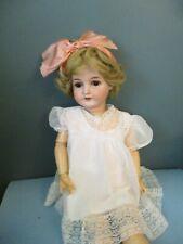 """Karl Hartmann Antique German Bisque Head Doll 30"""" 3/5 Ball Jointed body blonde"""