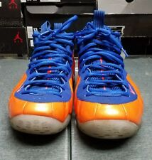 Nike Air Foamposite One Knicks 314996-801 Blue Orange Size 10.5 Used no box