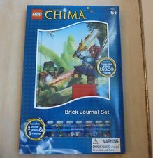 Lego Legends of Chima Brick Journal Set: stickers, pencils, journal w Lego plate
