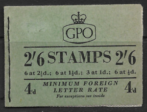 1954 F12 2/6d BOOKLET DATED JAN 1954 WTH QE2 WILDING & GEORGE VI STAMPS COMPLETE