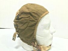 WW2 Flight Cap, US Army Air Force Type A-9 (RUSTED CHINSTRAP HOOK)
