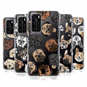 HEAD CASE DESIGNS DOG HEAD PATTERNS SOFT GEL CASE & WALLPAPER FOR HUAWEI PHONES