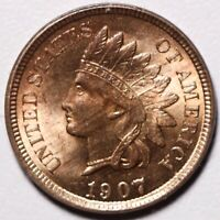 1907 INDIAN HEAD CENT - BU UNC - With CARTWHEELING MINT LUSTER!