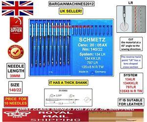 SCHMETZ 134 KK LR 797 LR 134LR NM:140SIZE:22 INDUSTRIAL SEWING MACHINE NEEDLES