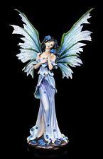 tamaño Elfos Figura - RINA con azules rosas - Decoración Hada Estatua Fantasy