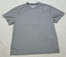 Reebok Gray Athletic T-Shirt Top Short Sleeve XL Mans Extra Large Polyester Mens