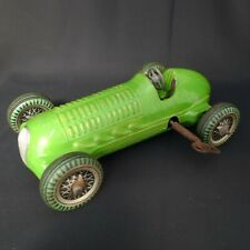 RARE VINTAGE METTOY MECHANICAL RACER CLOCKWORK TOY RACING CAR 1940's