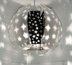 SELF ASSEMBLY BLACK STAR THE ORB STUNNING LAMPSHADE LIGHT SHADE COOL