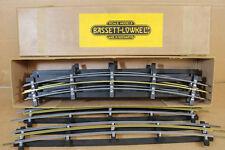 BASSETT LOWKE P/W O JAUGE 3 RAIL 3' rayon courbe RAIL très bon état en boîte NJ