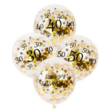 12.7x30.5cm 30 40 50th joyeux anniversaire âge numéro Confettis rempli Ballons