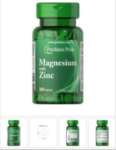 Puritan's Pride Magnesium with Zinc - 100 tablets