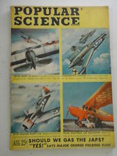 Popular Science Monthly Aug 1945 WWII World War II