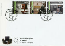 Portugal Art Stamps 2020 FDC Madeira Photography Museum Atelier Vicente's 3v Set