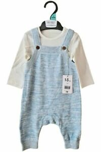 BNWT Mothercare Boys Blue Dungaree Set -TB-9 Mnths - Free 1st Class Postage