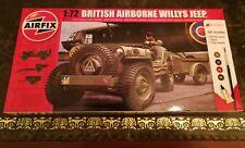 AIRFIX Willys British Airborne Jeep 1:72 Full Kit + peinture + Brosse + ciment, Normandie