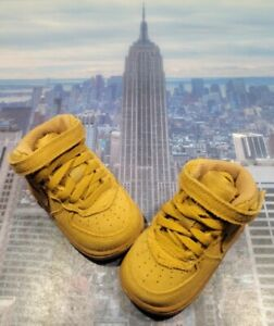 Nike Air Force 1 Mid LV8 Wheat/Gum Light Brown TD Toddler Size 4c 859338 701 New