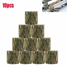 10Roll Camo Wrap Tape Airsoft Camouflage Stealth Webbing Fabric Tape 4.5m