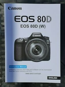 Canon EOS 80D Manual - Printed & Professionally Bound Size A5 - NEW 542 pages