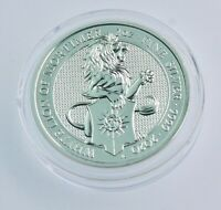 2020 Great Britain 2 oz .999 Silver Queen's Beasts White Lion of Mortimer  BU