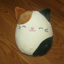 "Squishmallows Cam the Calico Kitty Cat Plush 8"" Off White Smiling Face Very Soft"