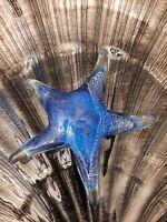 Paperweight, Art Glass Murano Style Figurines, Beautiful Star Fish Multi-Colors