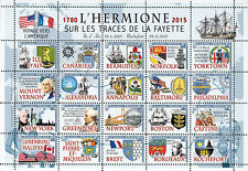 "NAVAL LABEL ""Maiden Crossing France-USA of Tall ship 'HERMIONE / LAFAYETTE"" 2015"