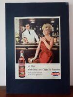 Pubblicità originale Vermouth Gancia anni rifilatura da rivista in passepartout