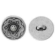 30pcs Ancient silver Flower Decorative Metal Buttons Fit Sewing Scrapbook 1 E0V2