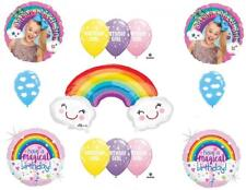 13 PC JOJO SIWA Happy Birthday Balloons CAKE Dance sky Rainbow Free Ship