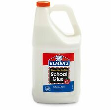 Elmer's Liquid School Glue Washable 1 Gallon 1 Count (White)