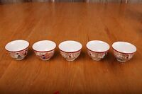 Set of 5 Vintage Japan Tea Cups Scenes From The Country