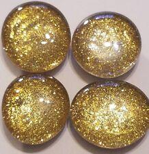 Magnets *HANDMADE*  Original Gold Sparkling Glitter Glass.