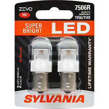 Sylvania ZEVO LED 3157R Red 6000K Two Bulbs Fits 3057/4057