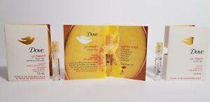 Dove Go Fresh Burst Body Mist Nectarine & White Ginger Scent  * 1.5ml Set of 3 *