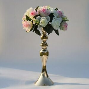 "50cm/20"" Metal Candlestick Flower Vase Table Flower Rack Road Lead Wedding Decor"
