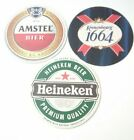 3 DIFFERENT LOGO BEER COASTERS GREAT FOR ANY COLLECTION HICK UP!