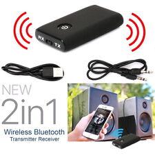 2in1 Bluetooth 5.0 Transmitter Adapter Audio Receiver TV PC Speaker Headphone