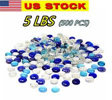 500 Pcs Mixed Color Glass Gems, Pebbles, Mosaic Tiles, Marbles Vase Filler (5Lb)