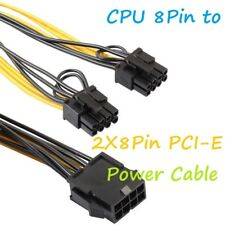 CPU 8PIN TO DUAL 6PIN+2PIN PCI-E PCIE VIDEO POWER ADAPTER CABLE SPLITTER LEAD