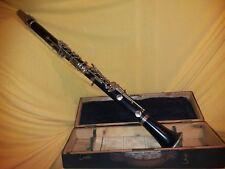 Alte Klarinette im Koffer Citer Palumone Marseille B dela Garse 22  um 1900-1920