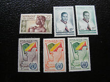 CONGO brazzaville - timbre yvert et tellier n° 135 137 a 141 n** (A9) stamp